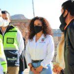 Ulises Mejía Haro, realizó un recorrido de supervisión por las instalaciones de la escuela primaria Benito Juárez